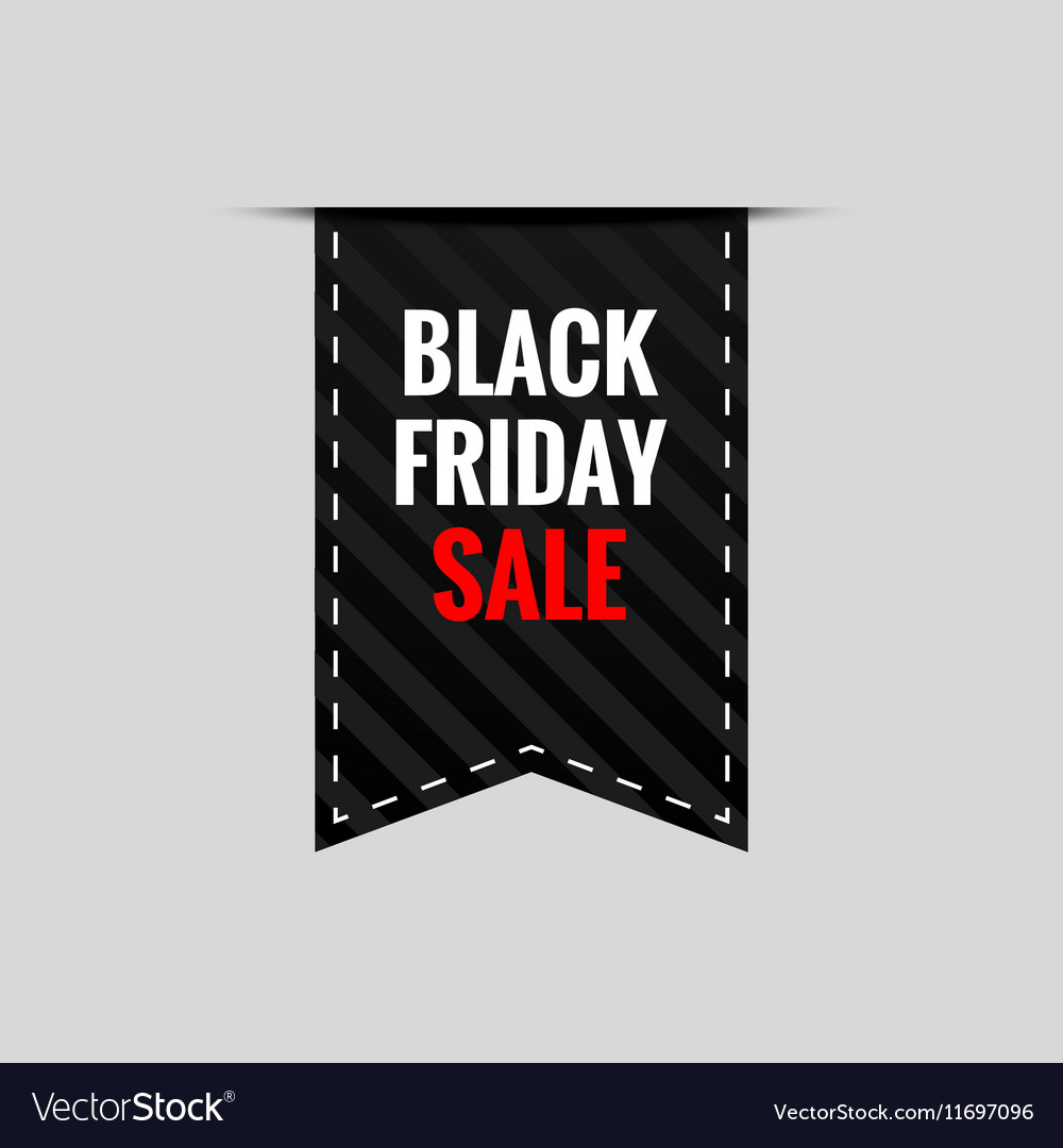 Black Friday Sale tape banner - isolated