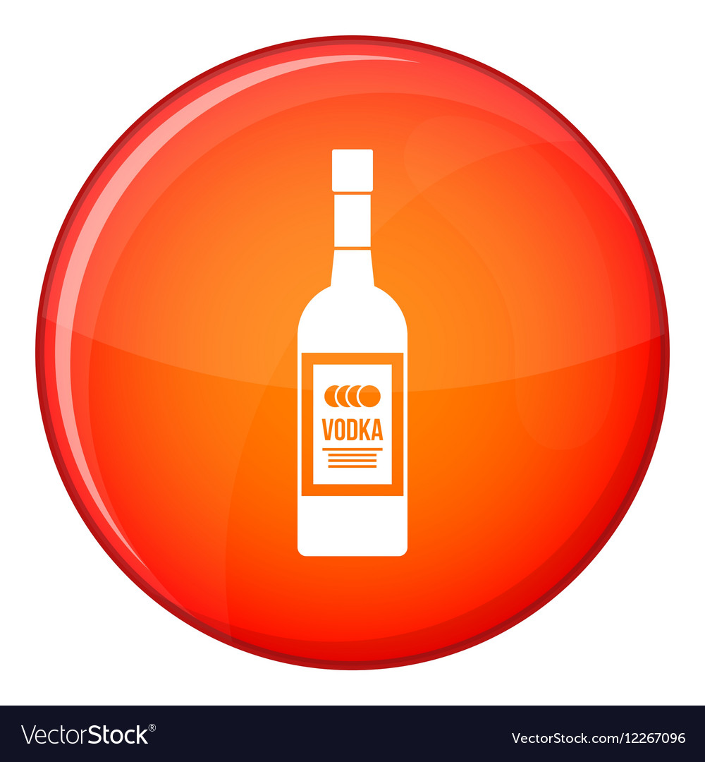 Bottle of vodka icon flat style vector image