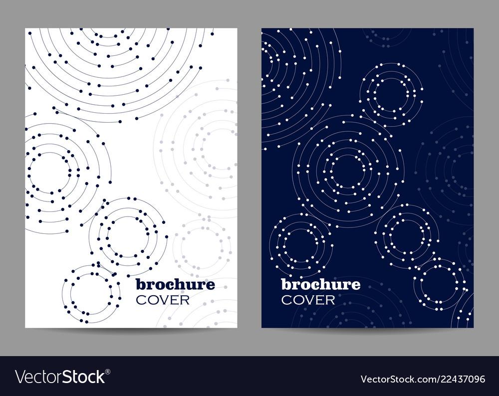 Brochure template layout design geometric pattern