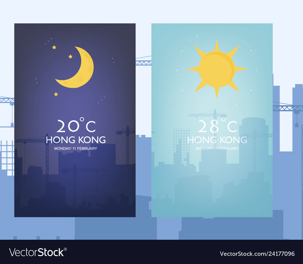 Day and night landscape