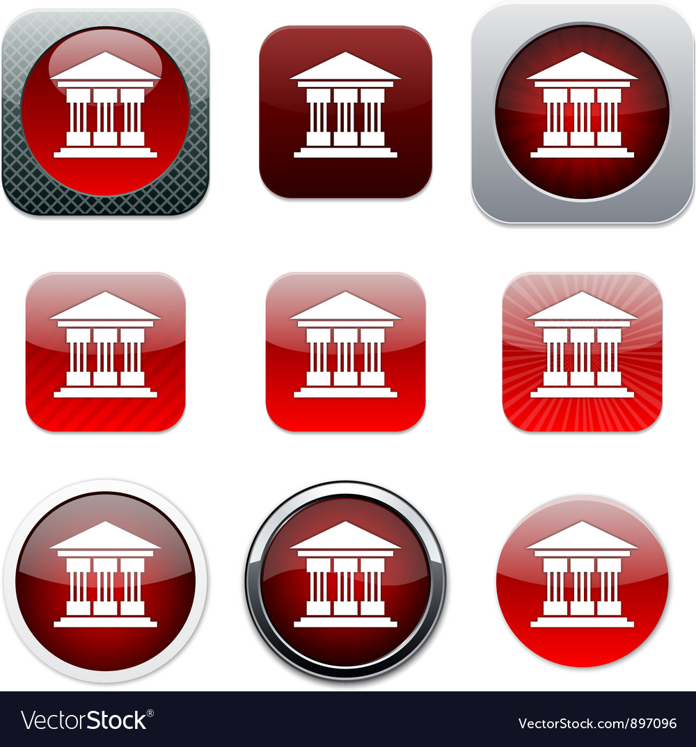 Exchange red app icons vector image