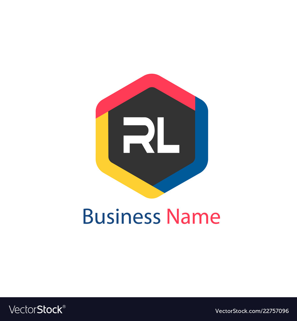 initial letter rl logo template design royalty free vector