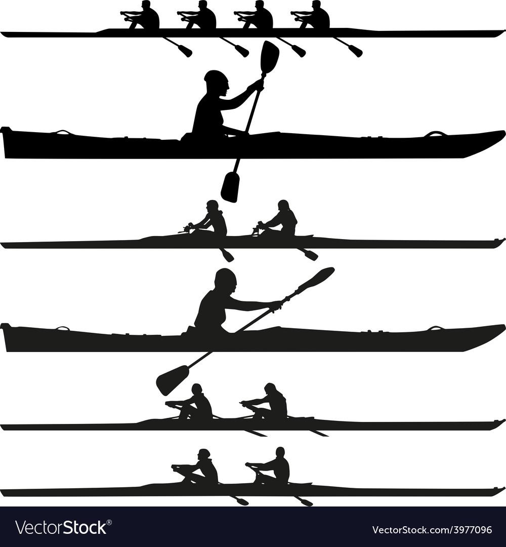 Kayak Silhouette Vector Image