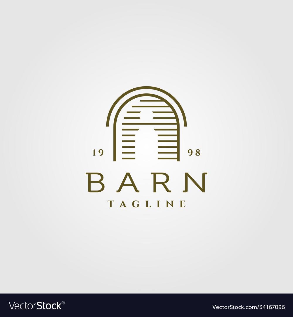 Line art barn logo design