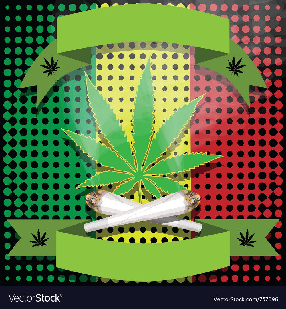 Marijuana-cannabis-joint vector image