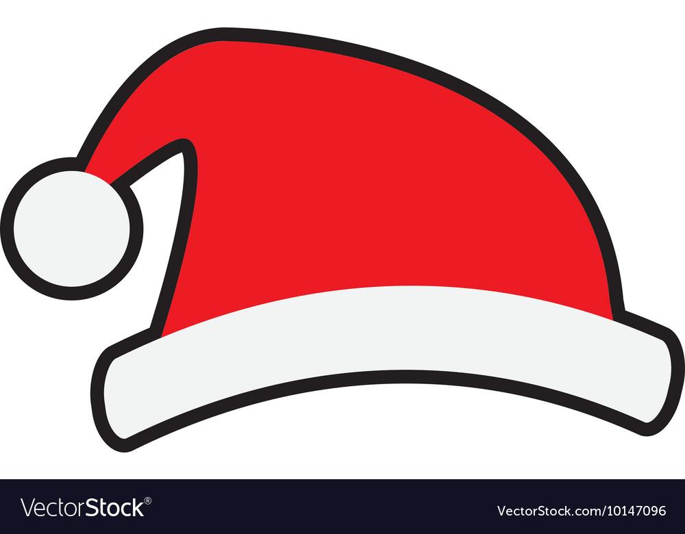 Christmas Hat Cartoon.Santa Hat Merry Christmas Cartoon Icon