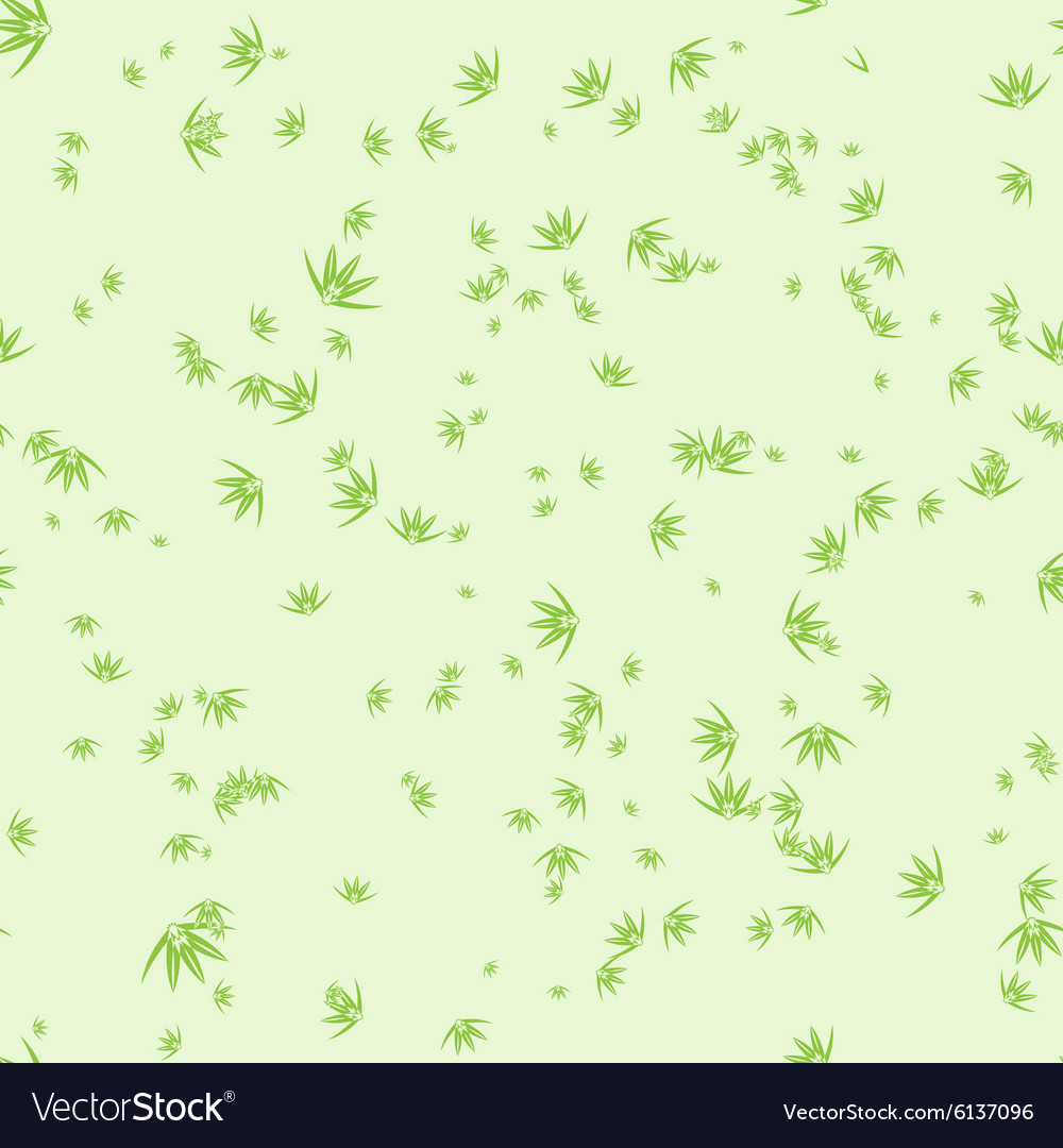 Seamless pattern with stylization leaves of bamboo