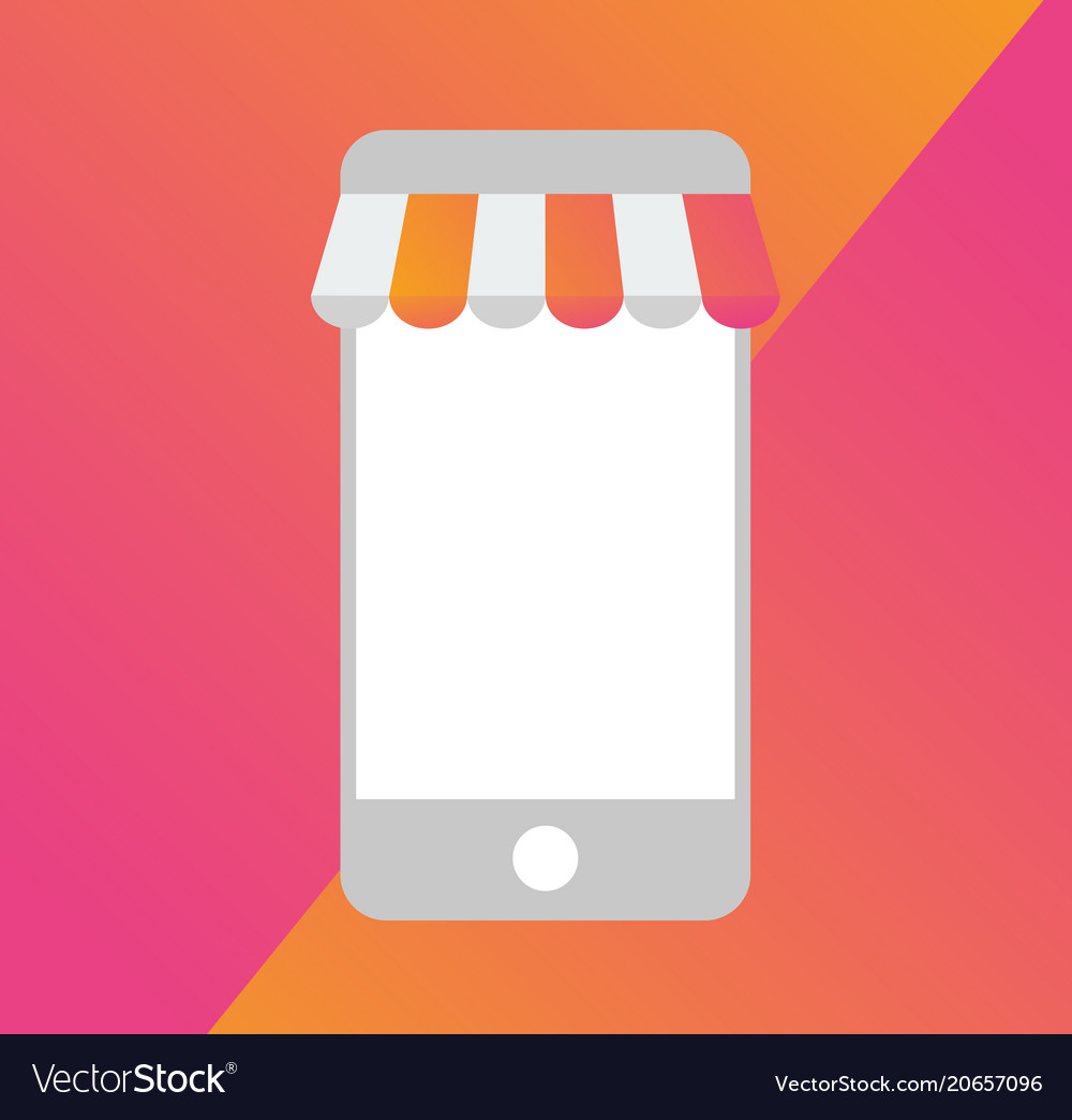 Smart Phone Mobile Store Business Template Icon Vector Image