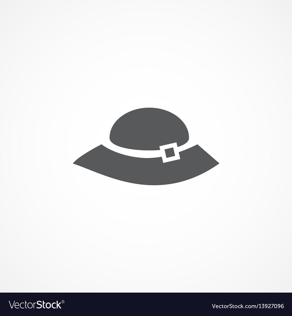 Woman hat icon vector image