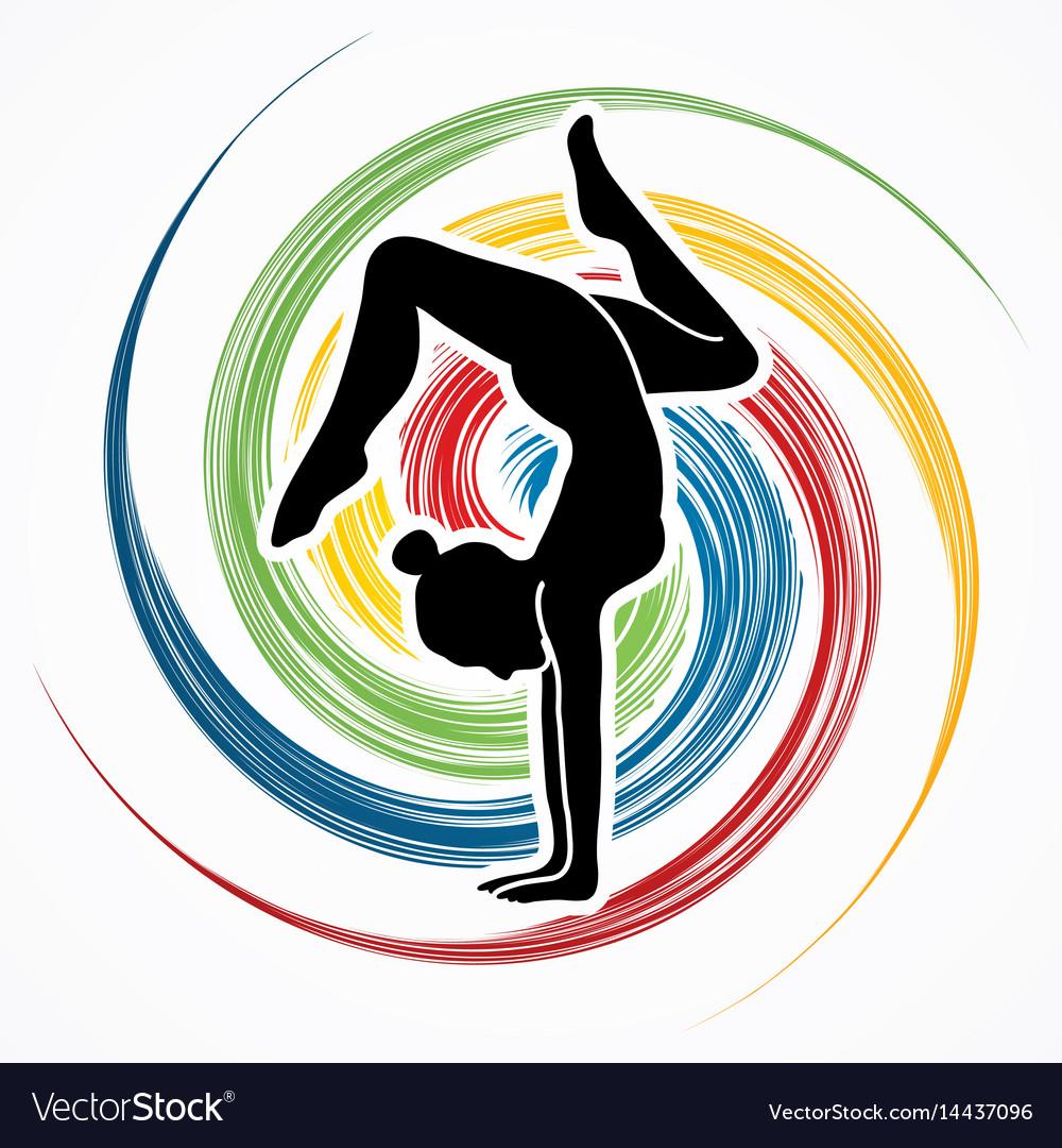 Woman yoga action sport woman pose
