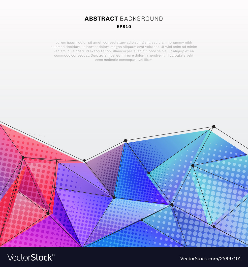 Abstract 3d low polygon shape colorful with