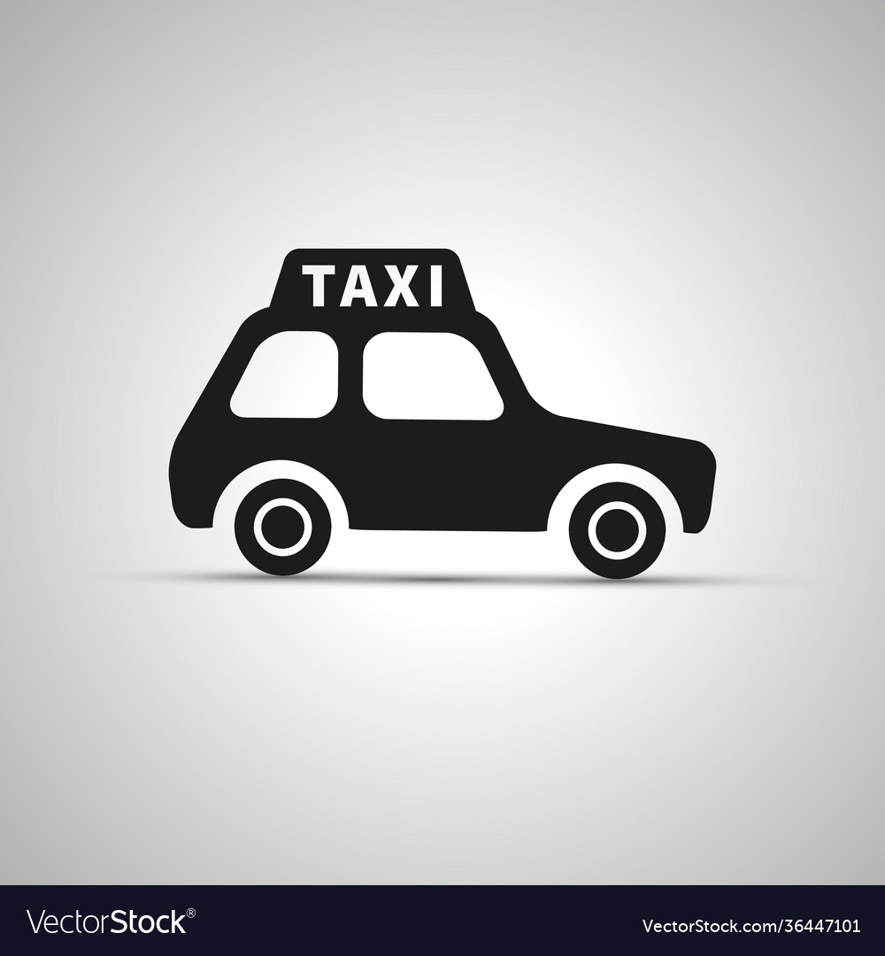 Car taxi silhouette side view simple black icon