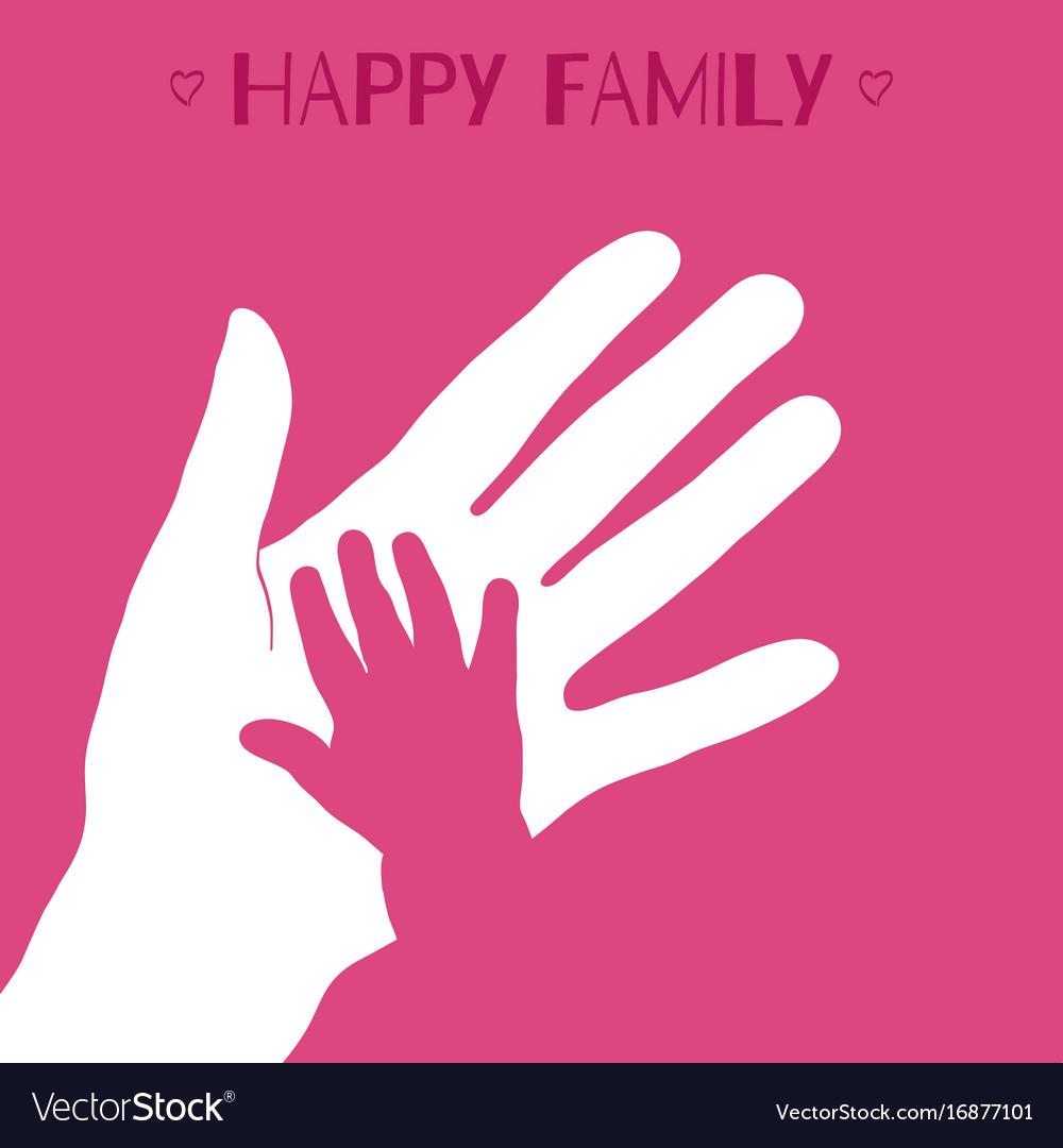 Child hand vector image