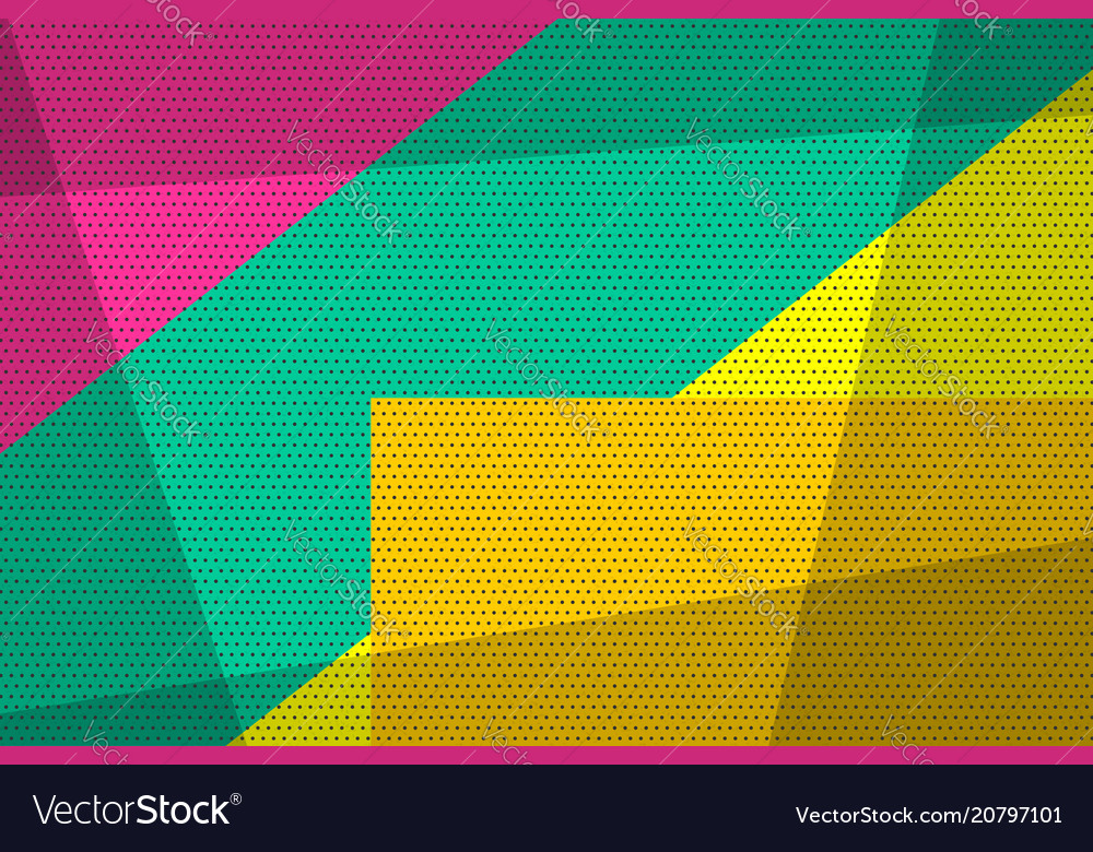 Geometric popo art vintage background
