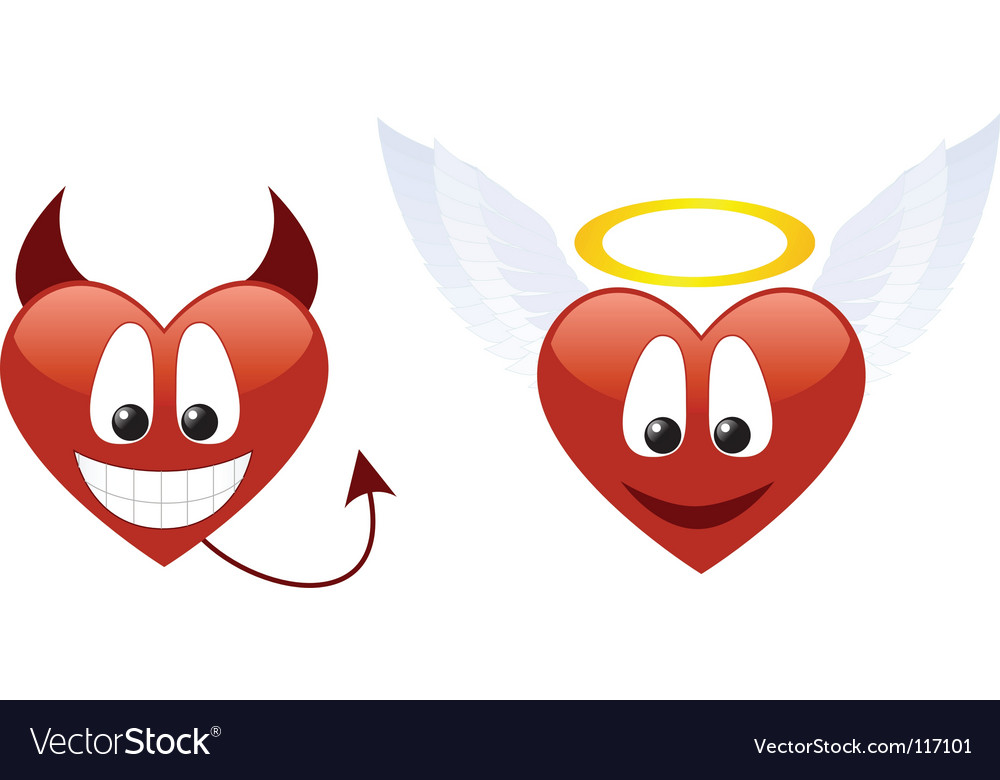 Smile heart vector image