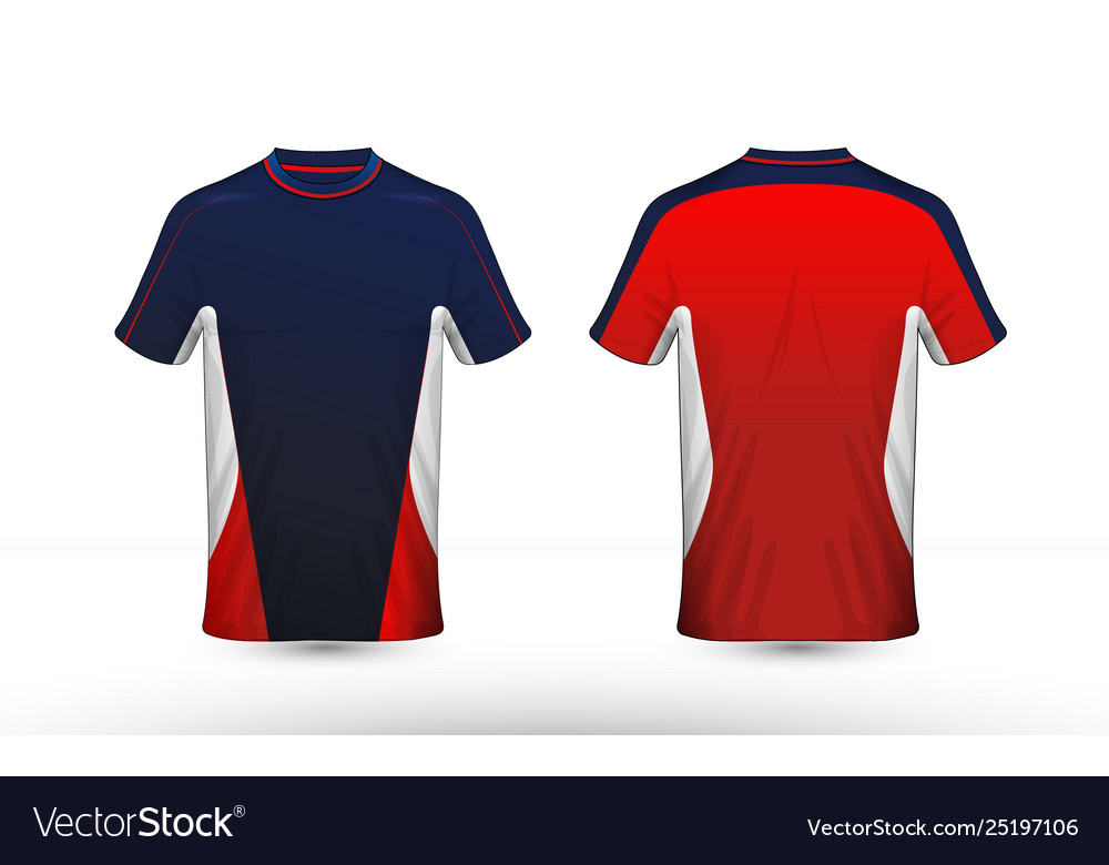 cd3eacc4c Blue red and white layout e-sport t-shirt design Vector Image