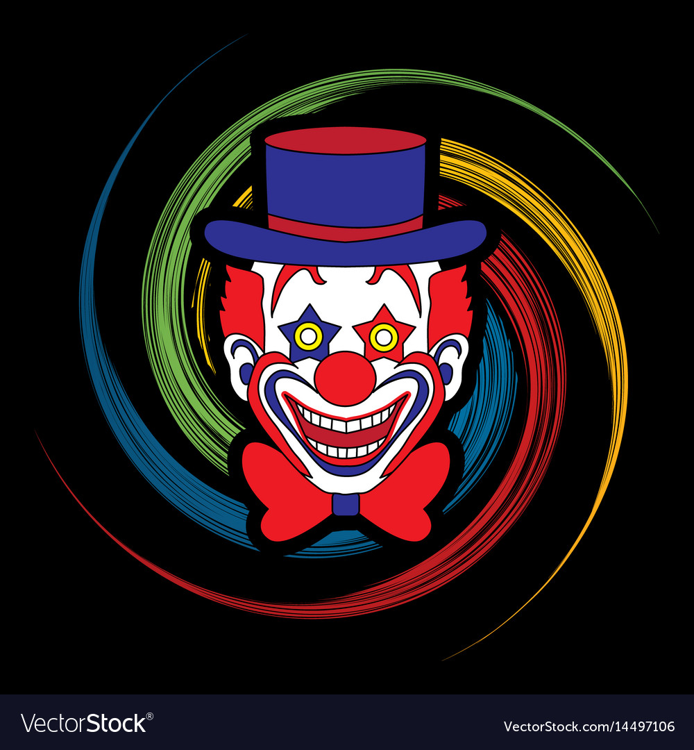 Clown head smile face graphic