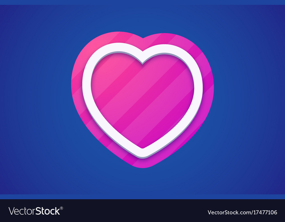 Colorful heart icon on dark background with color