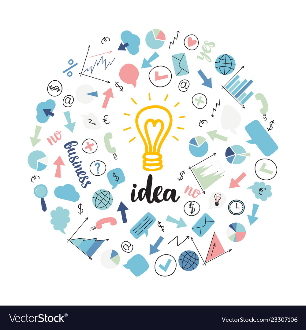 Creative background of business startup