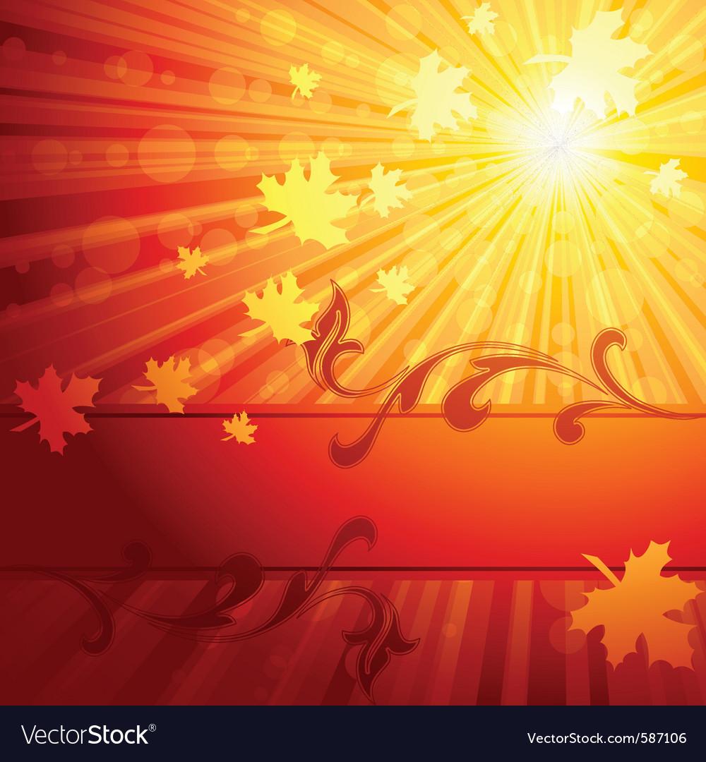 Elegant autumn banner