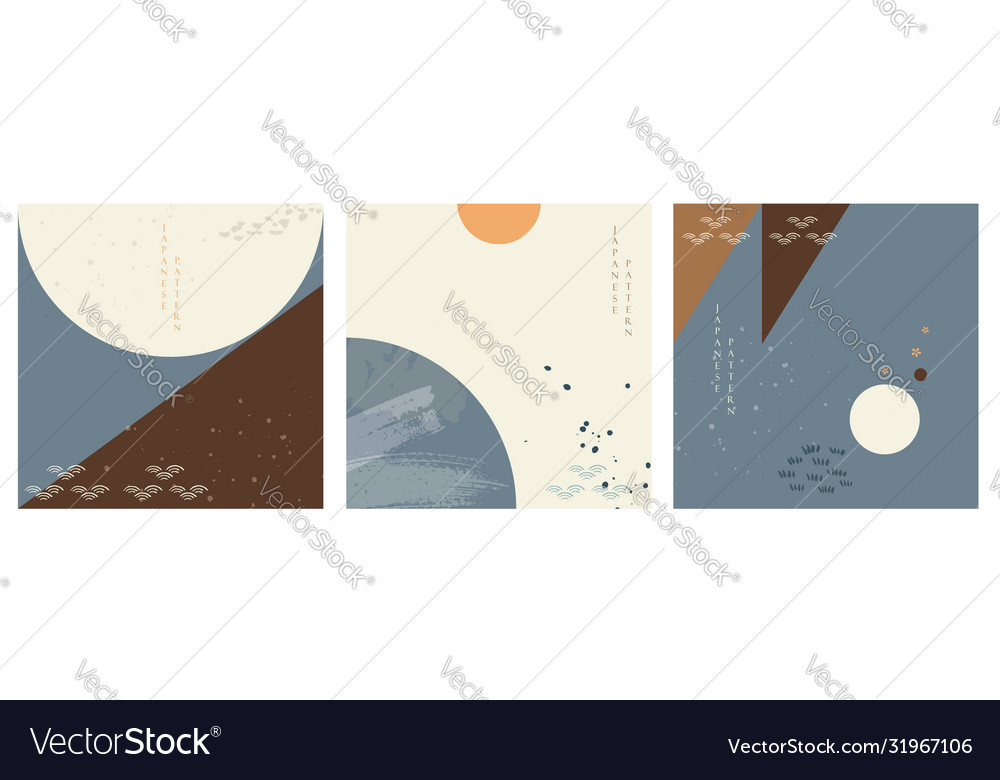 Geometric background with watercolor texture