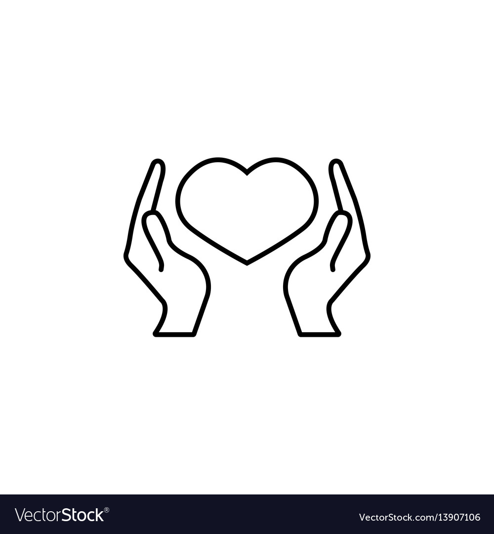 Health care and hearth in hands icon
