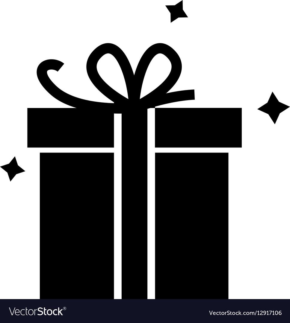 Icon Gift Box Royalty Free Vector Image Vectorstock