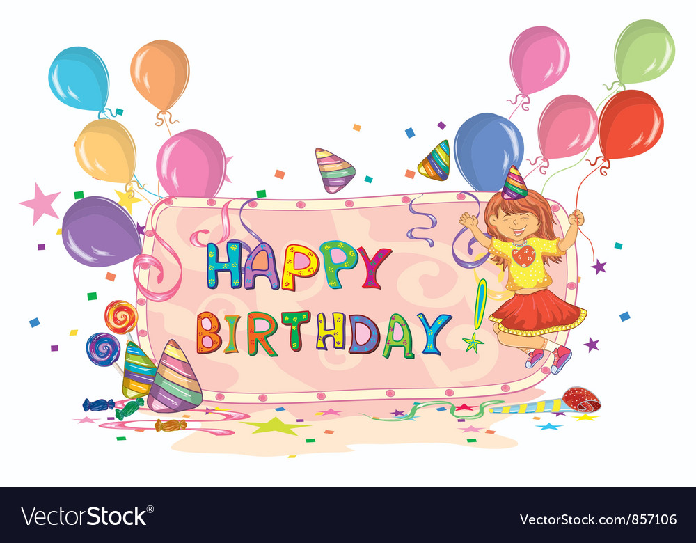 Kids birthday party Royalty Free Vector Image VectorStock