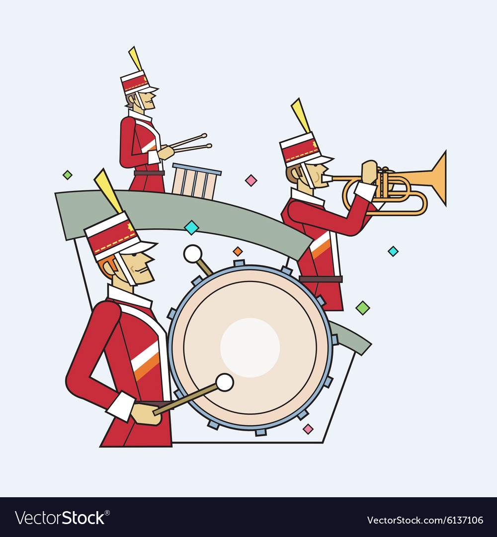 Military band line style
