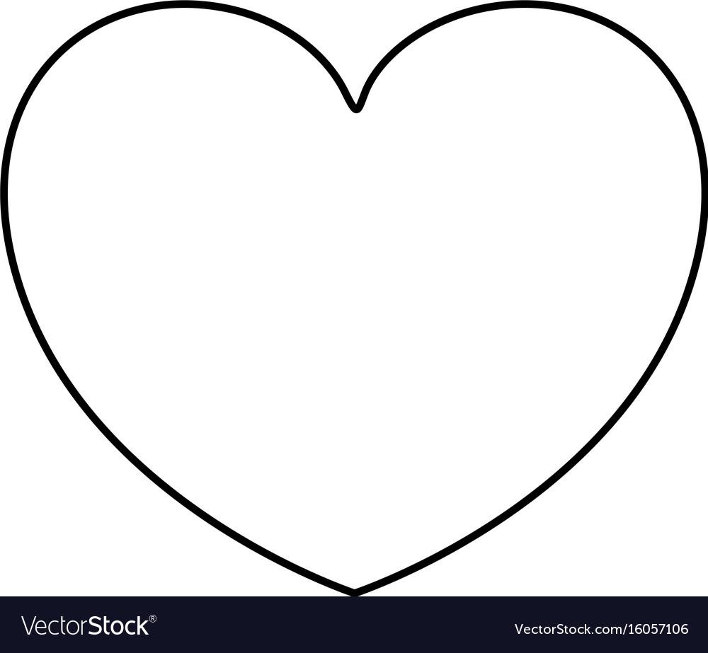 Monochrome silhouette of heart shape decorative