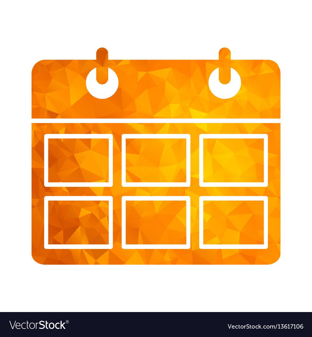 Polygon golden icon calendar