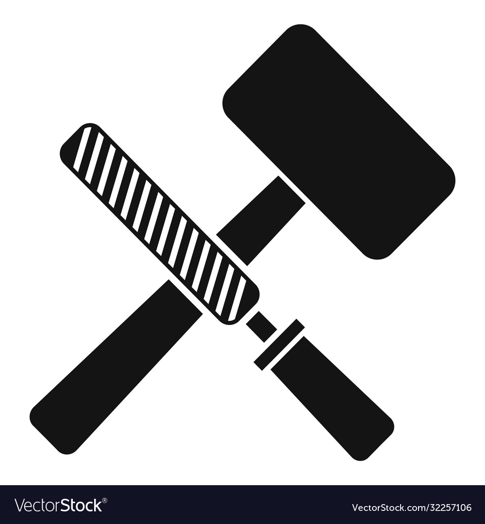 Reconstruction hammer tools icon simple style
