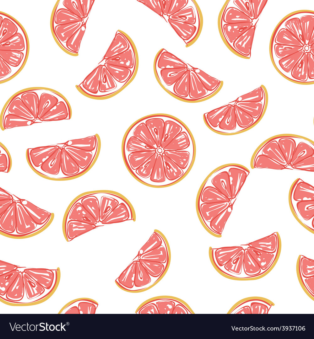 Seamless grapefruit pattern
