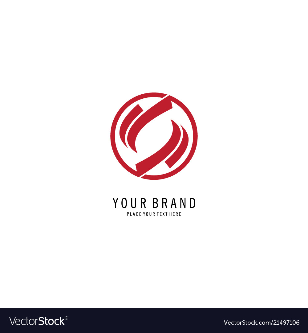 Swirl circle abstract logo