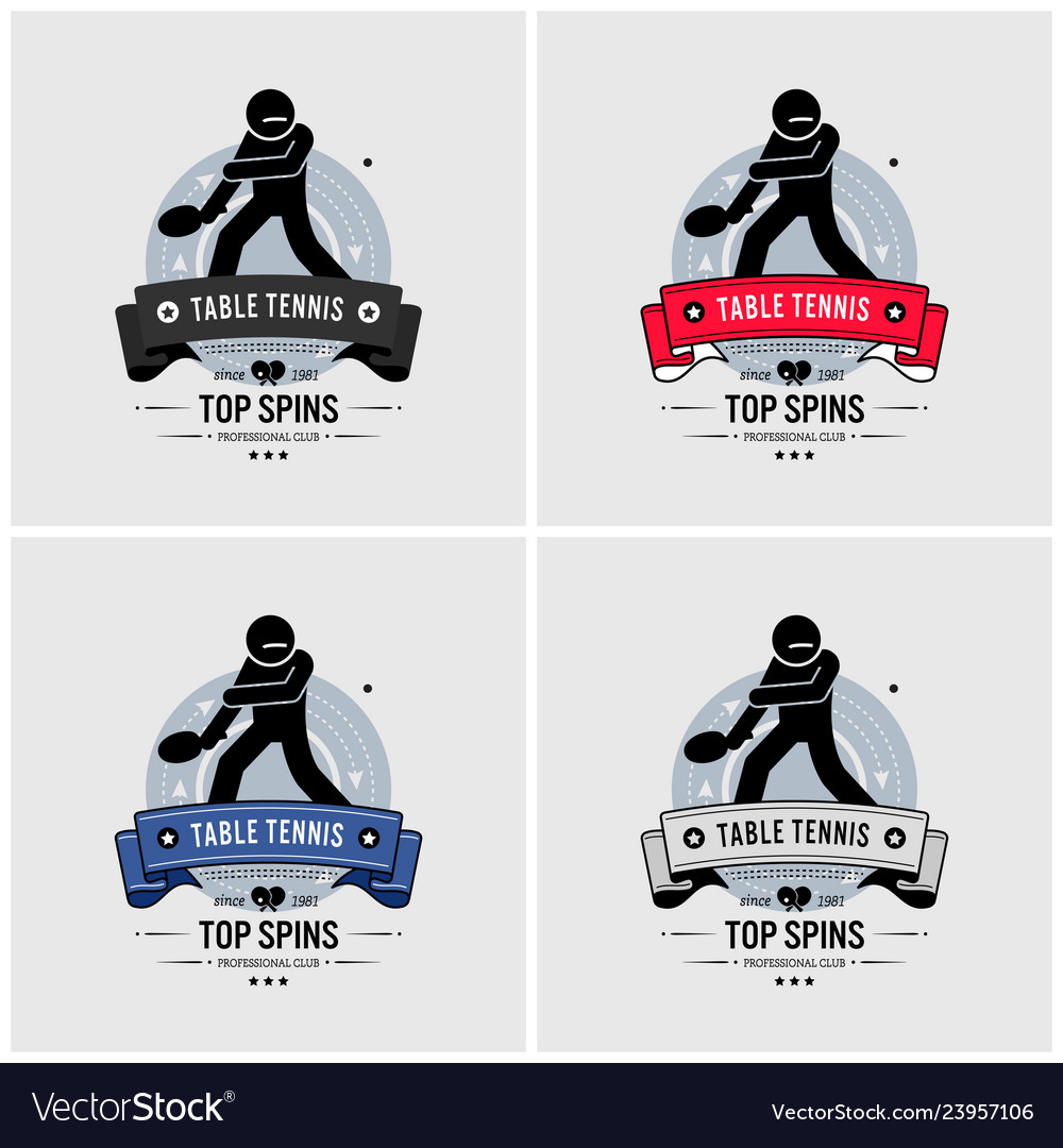 Table tennis club logo design artwork and emblem