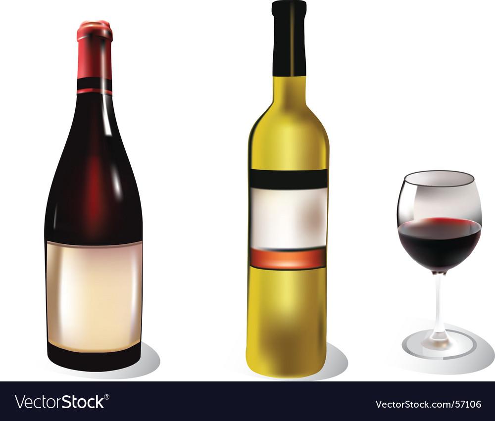 wine bottle royalty free vector image vectorstock rh vectorstock com wine bottle vector white wine bottle vector graphics