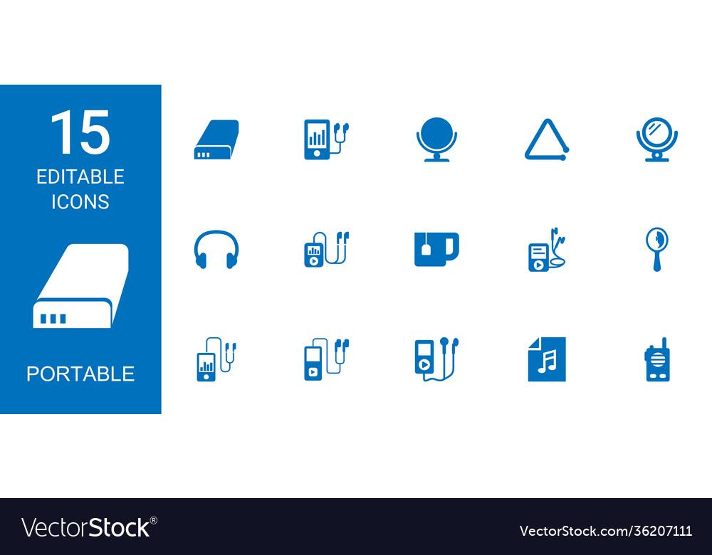 15 portable icons