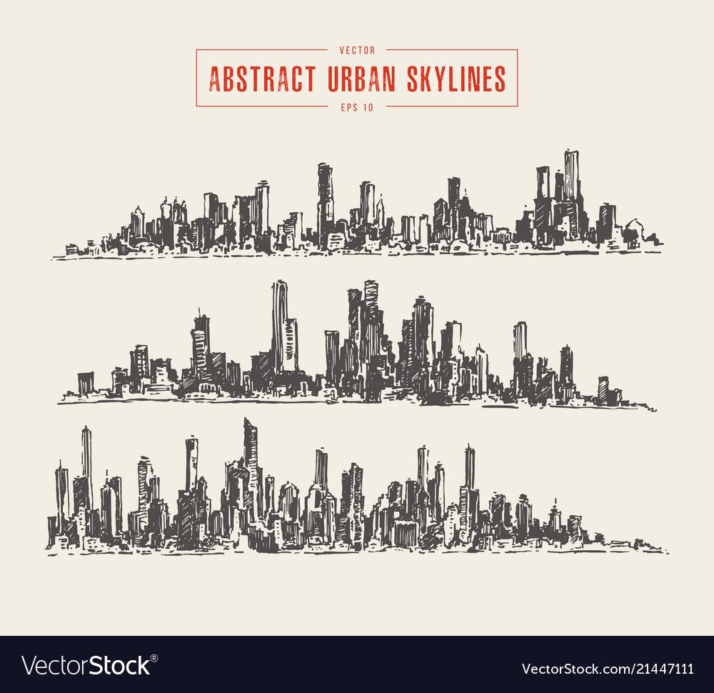 Abstract big city skyline urban