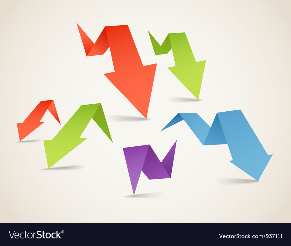 Folded arrows vector image
