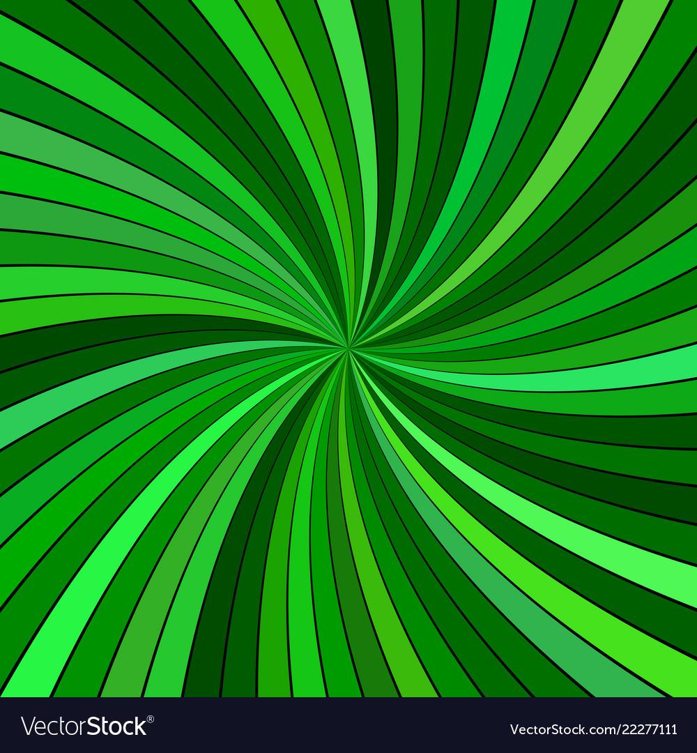 Green hypnotic abstract spiral stripe background