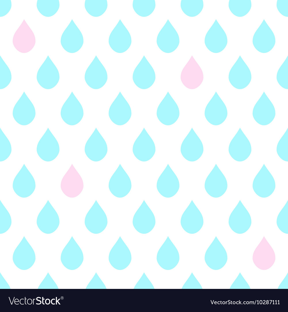 Light blue pink water drops white background