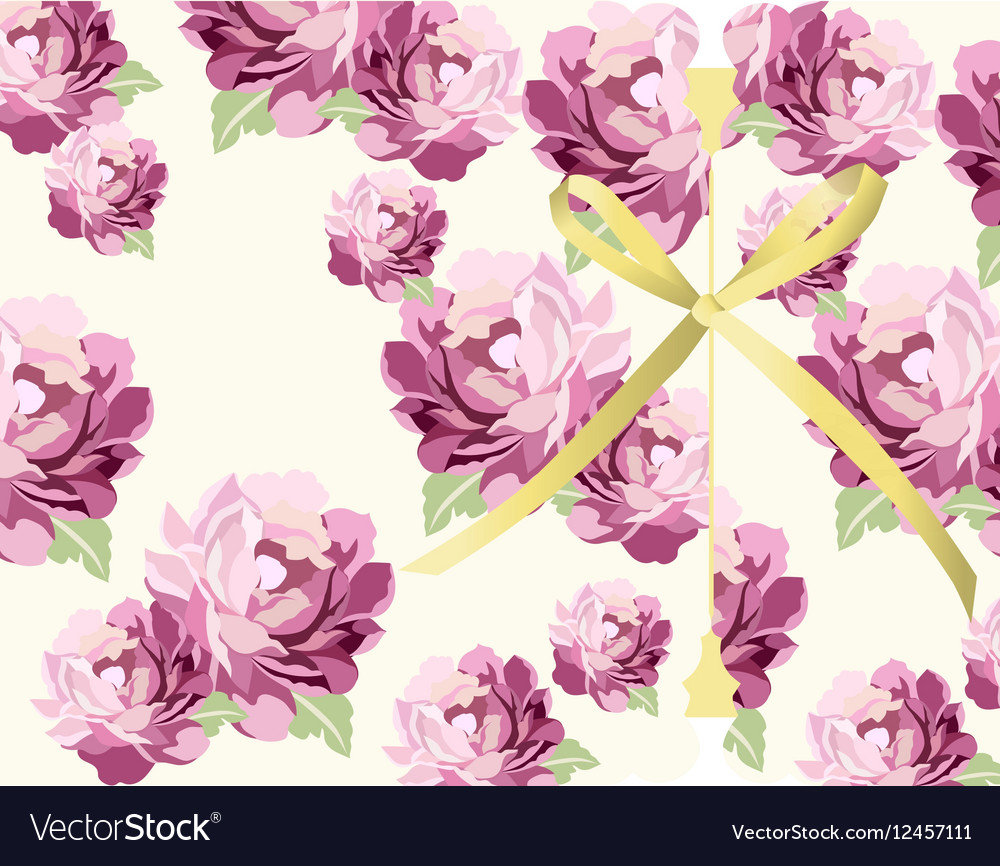 Pink flowers Card background