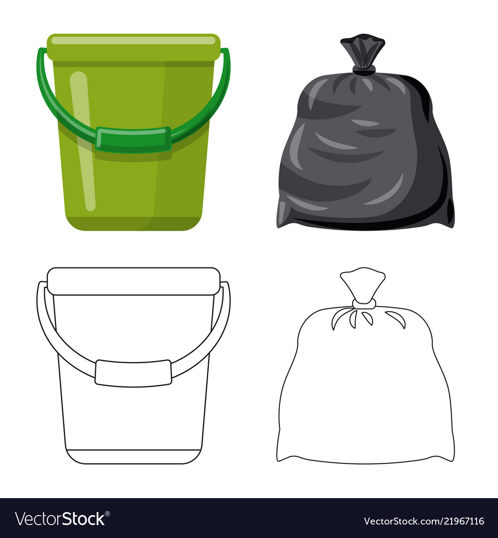 Design of cleaning and service sign set of