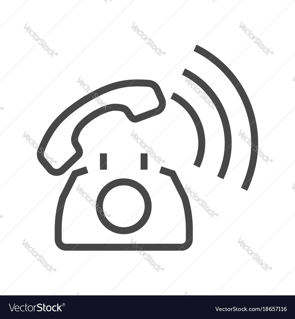 Phone thin line icon vector image