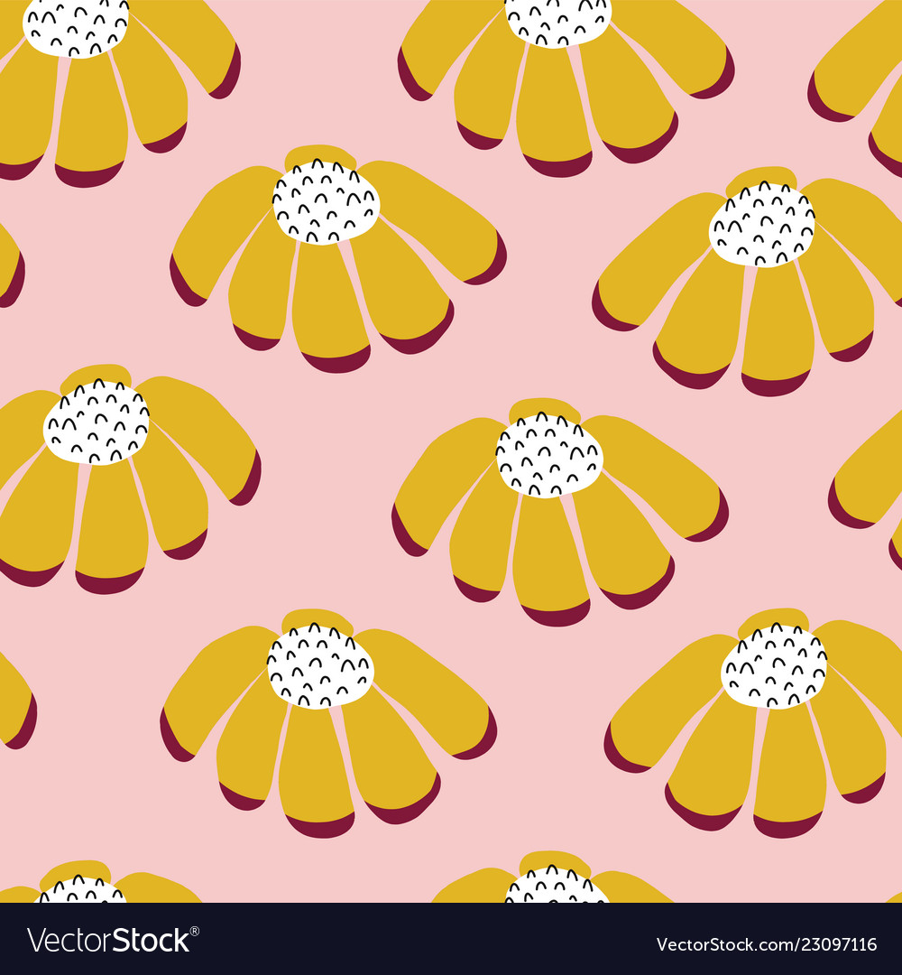 Seamless flowers repeating background
