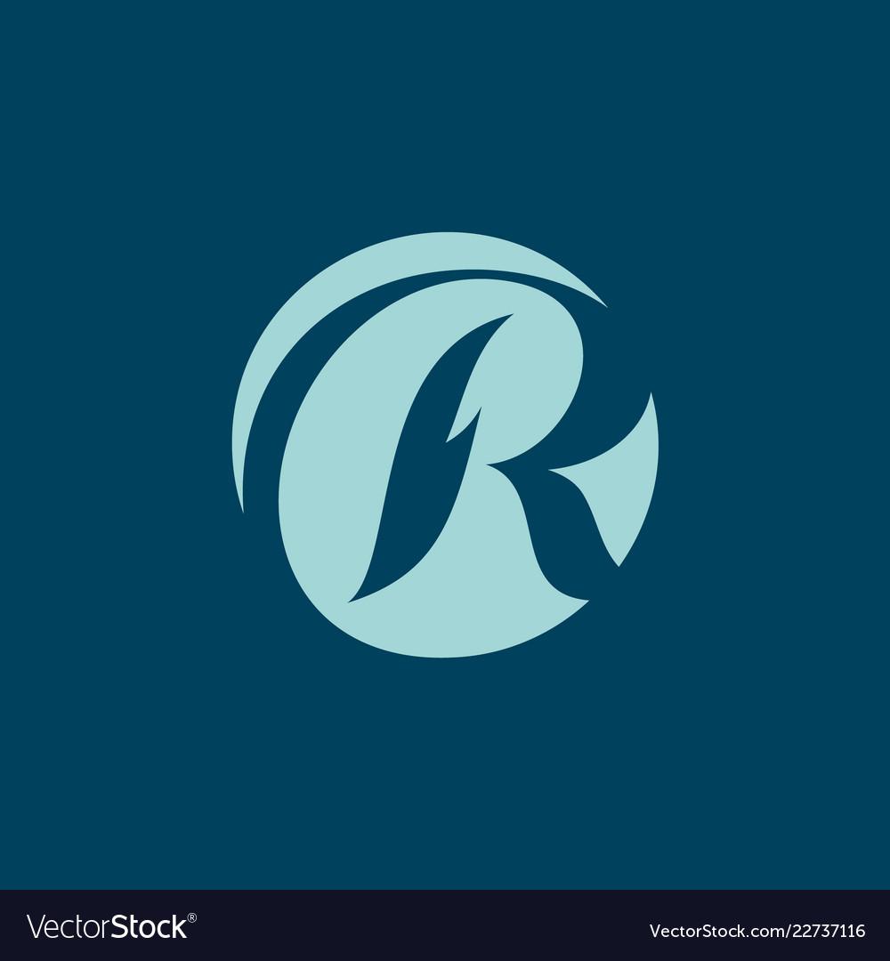 Sign letter r
