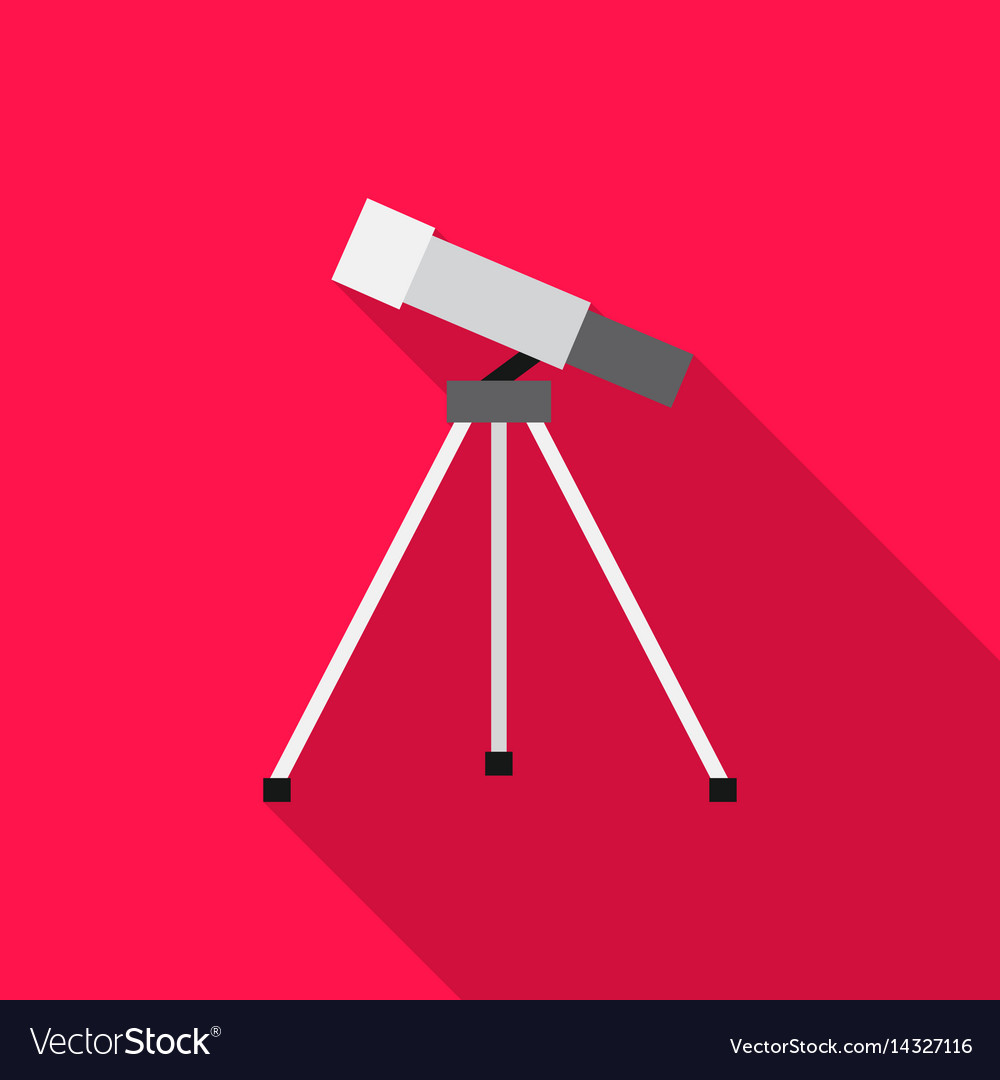 Telescope icon flat single education icon from vector image