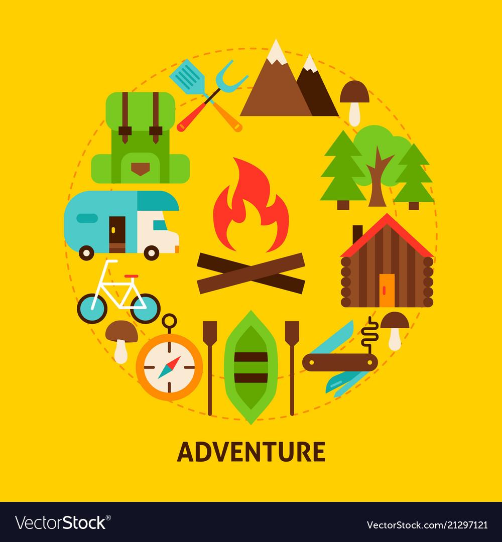 Adventure summer postcard