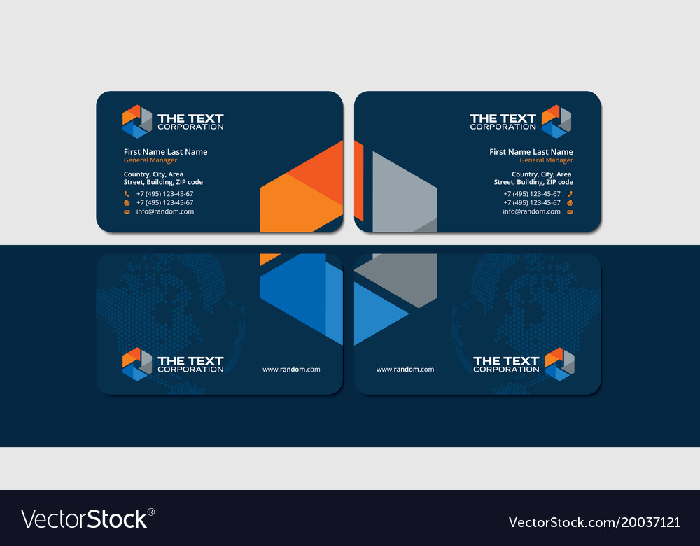 Business cards for oil and gas industry Royalty Free Vector