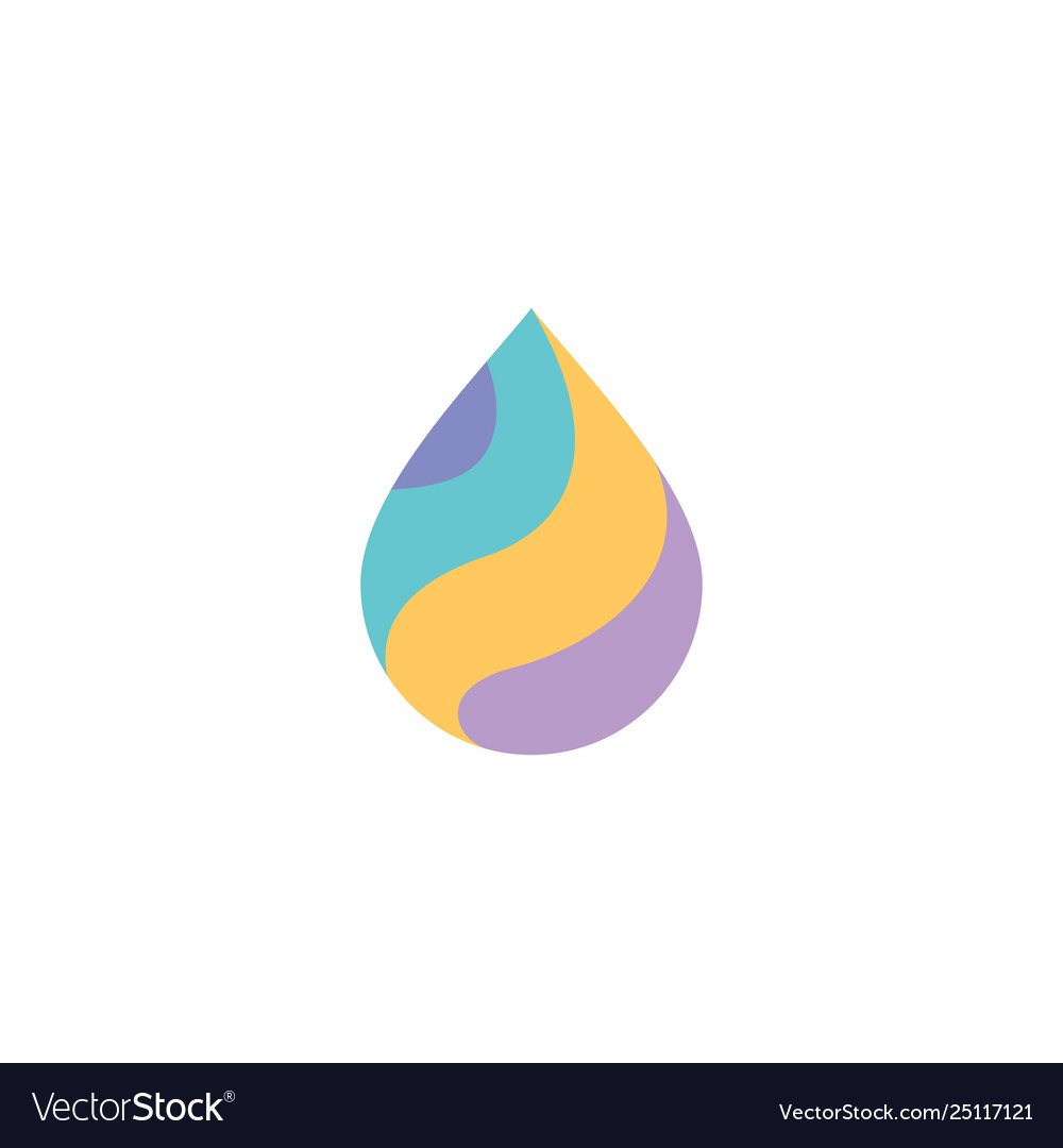 Colorful drop logo icon